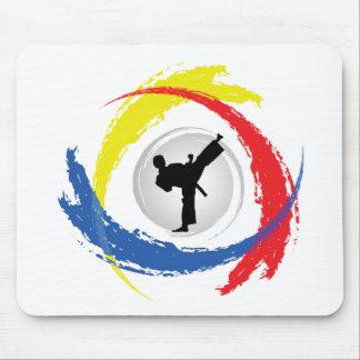 Karate-Tricolor Emblem Mousepads