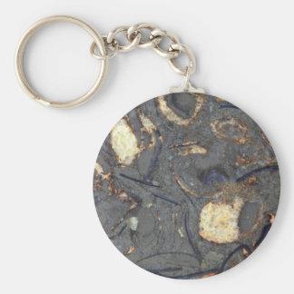 Karbonatsfelsen mit Fossilien Schlüsselanhänger