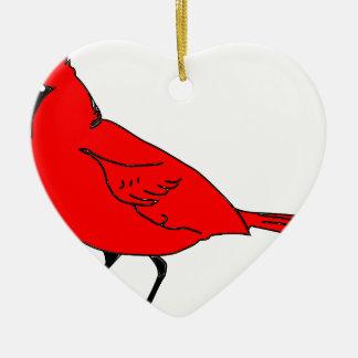Kardinal #2 keramik Herz-Ornament