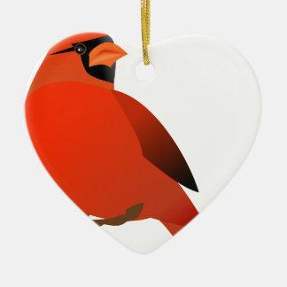 Kardinal #3 keramik Herz-Ornament