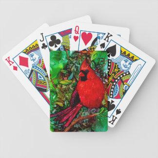 Kardinal im Baum Bicycle Spielkarten