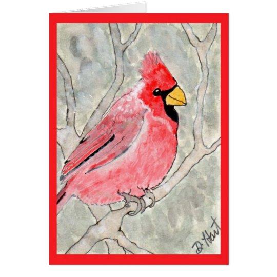 Kardinal im Schnee Grußkarte