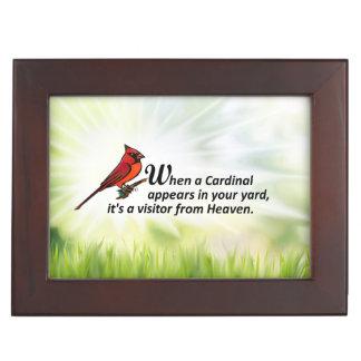 Kardinal in Ihrem Yard Erinnerungsdose