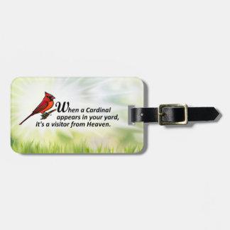 Kardinal in Ihrem Yard Kofferanhänger