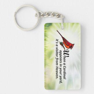 Kardinal in Ihrem Yard Schlüsselanhänger
