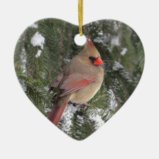 Kardinal Keramik Herz-Ornament