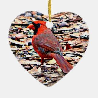 Kardinal (Mann) Keramik Ornament