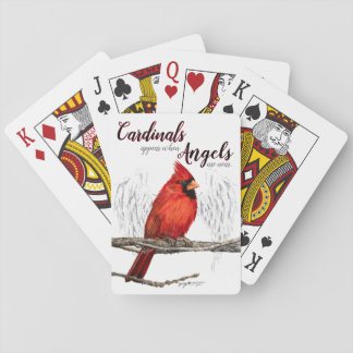 Kardinäle erscheinen Engel sind nahe Spielkarten
