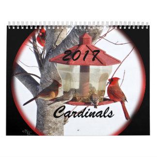 Kardinäle für 2017 - ändern Sie Jahr, wie Kalender