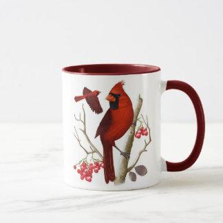 """""""Kardinäle in der wilden"""" Vogel-Kaffee-Tasse Tasse"""