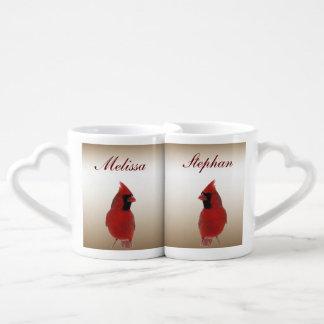 Kardinals-Hochzeits-Liebhaber-Becher Herztasse