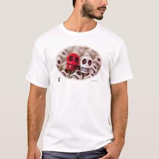 Kardinals-Rot und Weiß T-Shirt