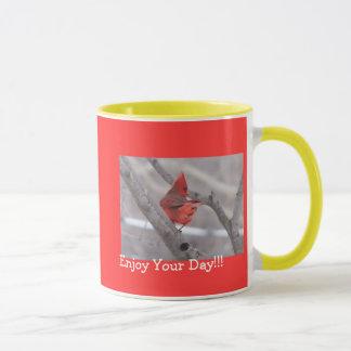 Kardinals- und Blumen-Tasse Tasse