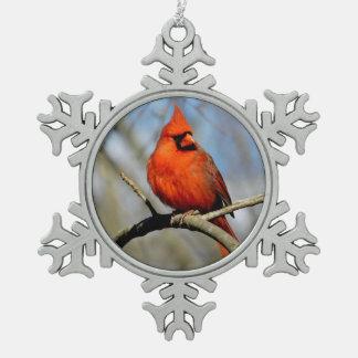 Kardinals-Wappen-Schneeflocke-Verzierung Schneeflocken Zinn-Ornament
