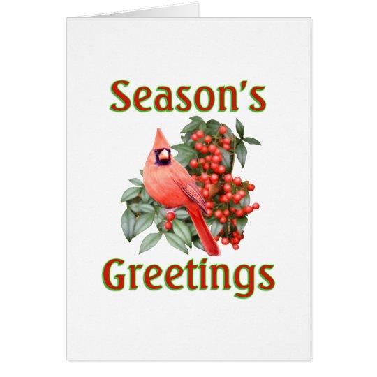Kardinals-Weihnachten Grußkarte