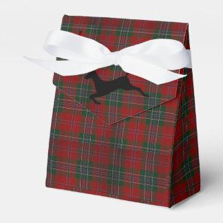 Kardinals-Weihnachten kariert Geschenkschachtel