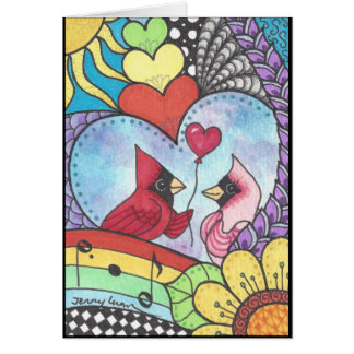 Kardinalsvogel in der Liebekunst Karte