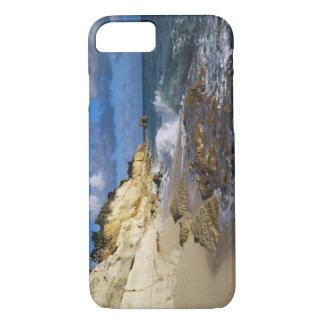 Karibische Meere, St Martin, Klippen bei Cupecoy iPhone 8/7 Hülle