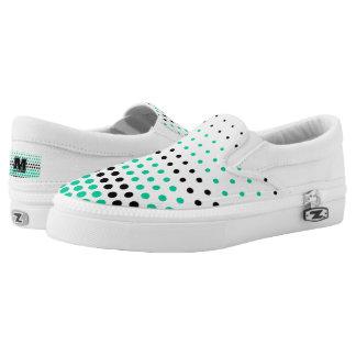 Karibischer grüner und schwarzer Tupfen Slip-On Sneaker