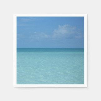 Karibischer Horizont-tropisches Türkis-Blau Serviette