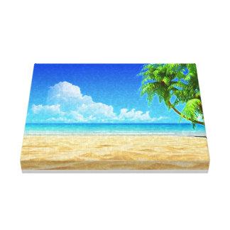 Karibischer Strand gemalte Leinwand