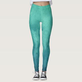 Karibisches grünes festes legging Muster Leggings