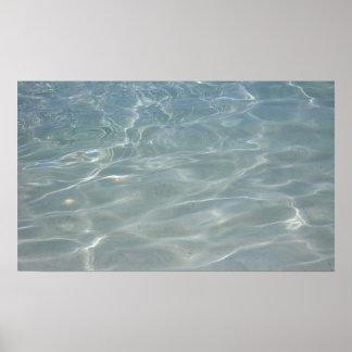 Karibisches Wasser-abstrakte blaue Natur Poster