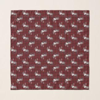Karibu-Ren-rotes schwarzes kariertes Schal
