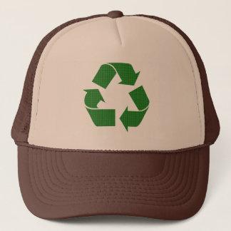 kariert recyceln Sie Truckerkappe