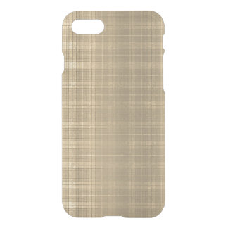 Karierte Art 90s Grunge-BrownTartan iPhone 7 Hülle
