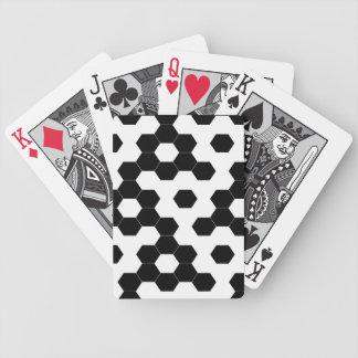 Karierte Hexagone Bicycle Spielkarten