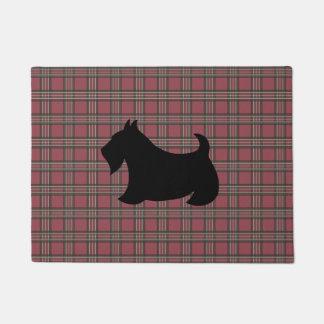 Karierte schottische Terrier Scotty Türmatte