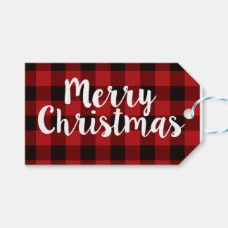 Karierte | Umbauten der frohen Weihnacht- Geschenkanhänger