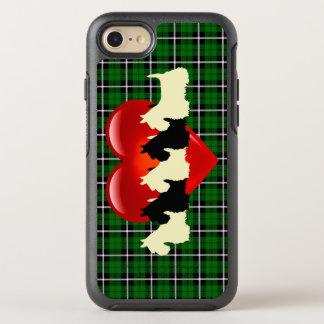 Karierter der Insel grüner, schottischer Terrier, OtterBox Symmetry iPhone 8/7 Hülle