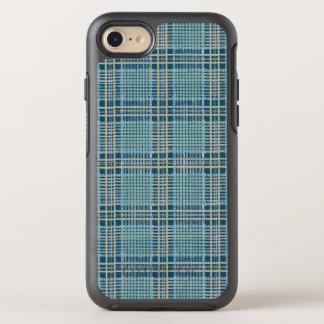 Kariertes aquamarines Blaues und gelb OtterBox Symmetry iPhone 7 Hülle