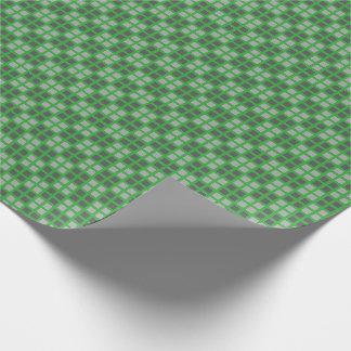 Kariertes grünes MikroPackpapier Geschenkpapier