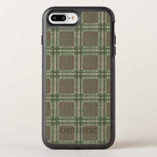 Kariertes Grünes und braun OtterBox Symmetry iPhone 7 Plus Hülle