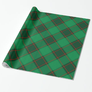 Kariertes Muster - Grün und Rot Geschenkpapier