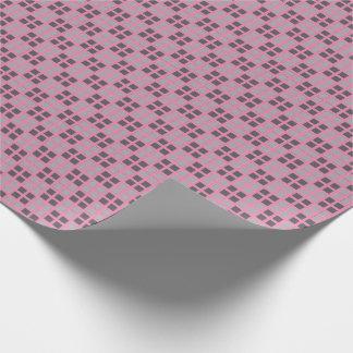 Kariertes rosa MikroPackpapier Geschenkpapierrolle
