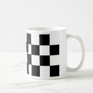 Kariertes Schwarzes u. Weiß Kaffeetasse