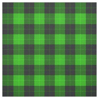 Kariertes /tartan-Muster Grün und Schwarzes Stoff