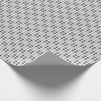 Kariertes weißes MikroPackpapier Geschenkpapier