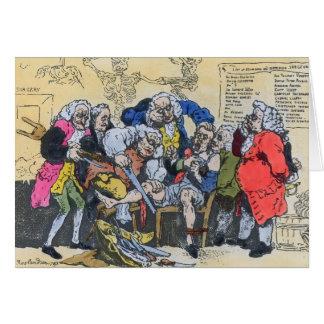 Karikatur der georgischen Chirurgen bei Arbeit, 17 Grußkarte