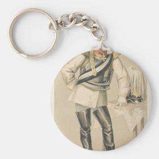 Karikatur der Staatsmann-No.660 der Zählung von Standard Runder Schlüsselanhänger