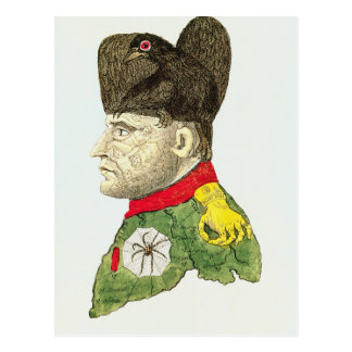 Karikatur von Napoleon Bonaparte Postkarte