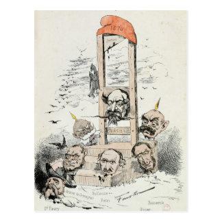 Karikatur von Napoleon III Otto Postkarte