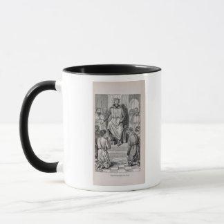 Karl der Große und die Jungen Tasse