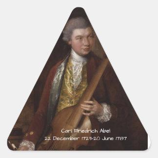 Karl Friedrich Abel Dreieckiger Aufkleber