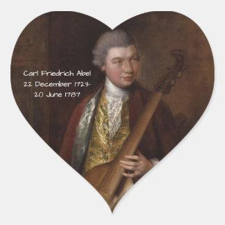 Karl Friedrich Abel Herz-Aufkleber