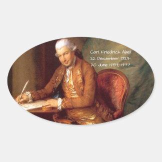 Karl Friedrich Abel Ovaler Aufkleber
